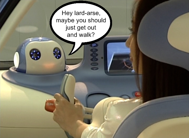 Piss taking robot